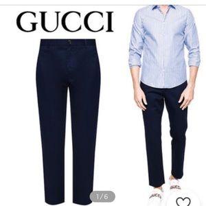 Gucci 519546 Z396H Blue Sapphire Men's Pants